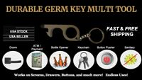 🇺🇸CONTACTLESS Multitool Clean KEY NO TOUCH TOOL/ANTI GERM Metal +STYLUS TIP