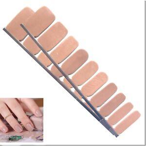 Jaysea Nails Polish Strips - Color Beige Nude Neutral Street Nail Art -B4G1 Free