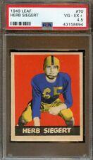 1949 Leaf Football Card #70 Herb Siegart PSA 4.5 VGEX+