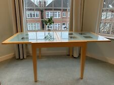 Glass dining table, extending - COLLECTION ONLY NW2