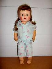 "Unmarked ~ Vintage 16"" Composition/Softskin Doll w/Teeth"