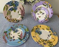 "PORTMERION Botanic garden Terrace  set of 4 melamine 11"" dinner plates  NWT"