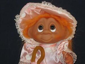 """7 3/4"""" 1993 STORYBOOK COLLECTION NORFIN ORANGE HAIRED BO-PEEP W/STAFF & TAGU359a"""