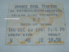 U2 Concert Ticket Stub MIAMI ORANGE BOWL DEC 3rd 1987 Joshua Tree RARE Bono
