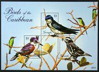 B090 GRENADA Birds of the Caribbean, sheetlet Mint NH