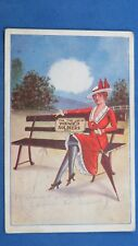 WW1 Comic Postcard 1914 1918 Silk Stockings Blue Garter Flapper WOUNDED SOLDIERS