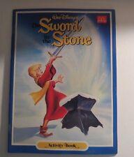 McDonalds Disney The Sword In The Stone Activity Book Unused