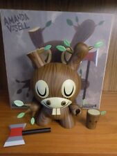 Kidrobot Wood Donkey 8 in Dunny by Amanda Visell! 3 6 Rare!