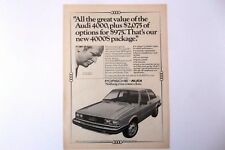 1981 Audi 4000S Vintage Original Print Ad Automobile Car