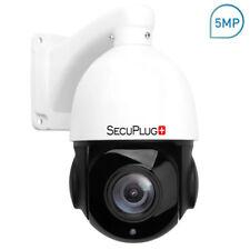 5MP PTZ IP Camera HD 2592x1944 Pan/Tilt 18x Zoom Speed Dome Camera IR 80M