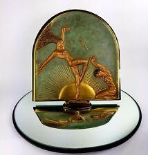 Erte Femme Fatale Bronze Art Deco Sculpture Mirror Signed