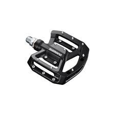 New Shimano PD-GR500-L Flat Platform MTB BMX Pedals Set w/ Pins - Black