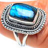 Labradorite 925 Sterling Silver Ring Size 7.5 Ana Co Jewelry R58766F