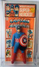 "CAPTAIN AMERICA MEGO 8"" SUPER HEROES - 1972 MOC KRESGE CARD AFA 70 C80 B60 F70"