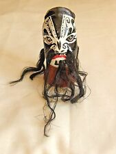 Paper Mache Chinese Opera Puppet Jing Style Gang Character Black & White w Hair