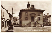 Real Photograpgh Court House & Market Square Antrim N.Ireland Postcard Unposted.