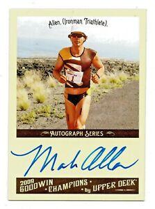 2009 Goodwin Champions Authentic Autograph Mark Allen Ironman Triathlon HOF