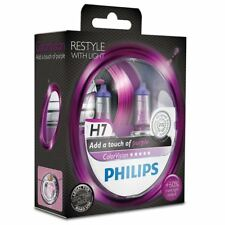 Philips Color Vision Purple H7 (477) Headlight Bulb 12972CVPPS2 Twin Pack