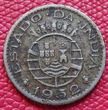 1952 PORTUGUESA INDIA - (estado. da. India) trimestre (1/4) BOLLETTINO Coin (A-008)