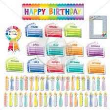CTP 6950 PAINTED PALETTE HAPPY BIRTHDAY MINI BB SET NEW CLASSROOM DECORATIVE