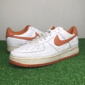 1999 Vintage Nike Air Force 1 Low Sneakers White / Orange 630033-182 Sz 12