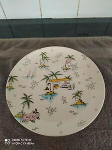 "Vintage Royal Tudor Ware South Pacific DINNER Plate - Barker Bros Ltd 10"" in dia"