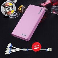 TheQ Power Bank PB02r externe Akku 20000mAh USB Ladegerät Samsung iPhone Pink