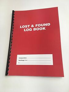 Lost and Found Log Book