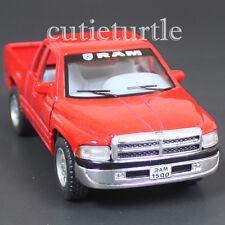 Kinsmart Dodge Ram 1500 4x4 Pick Up Truck 1:44 Diecast Toy Car Red