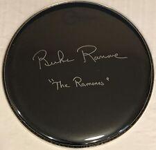 Richie Ramone Signed Drum The Ramones Autographed Drumhead (Joey Marky Ramone)--
