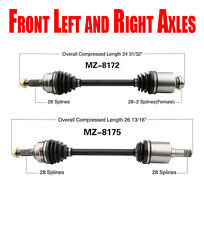 New Front Left and Right Cv Shaft Axles for Mazda 6 2.5L 2009-2013 A/T or M/T