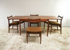 1960's Danish mid century dining table and 6 chairs
