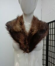 "MINT NATURAL RACCOON RACOON FUR COLLAR WRAP SCAF WOMEN WOMAN SIZE 4"" X 38"""