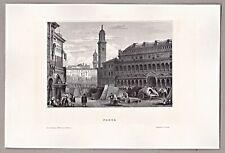Padua, Italien, Italia - Der Marktplatz - Stich, Stahlstich um 1850