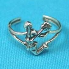 Cheerleader Toe or Pinky Ring - .925 Sterling Silver - one size fits most