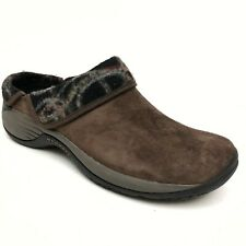 @@ MERRELL Encore Ripple Bracken Women's Suede Wool Slip On Clog Shoe Sz 10 Eu41
