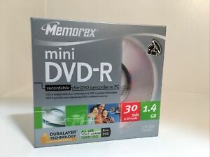 Memorex Mini DVD-R Recordable for DVD Camcorder or PC 1.4 GB 30 min NEW