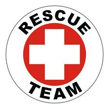 Rescue Team Hard Hat Decal / Helmet Label / Sticker / EMT CPR Firefighter