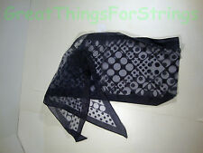 NEW Sheer Nvy Blu Polkadot Summer Scarf Scarve Wrap Long Made in Japan Head Neck