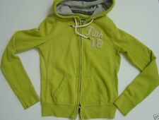 NWT Abercrombie & Fitch Green Logo Hoodie Womens Jr M