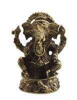 Amuleto Ganesh Elefante Portafortuna Dieu Indù IN Ottone A46 1044