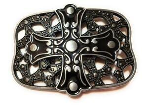 *` NEW CELTIC Design CROSS AND SHIELD Christian  ` Full Metal BELT BUCKLE