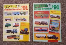 1991 Brekina Die Cast Models, Summer & Autumn Catalogues.