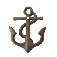 Towel Hat Bath nautical Rustic ANCHOR WALL HOOK Beach Ocean Shore Fisherman