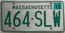 GENUINE American Massachusetts Pressed Metal USA License Number Plate 464 SLW