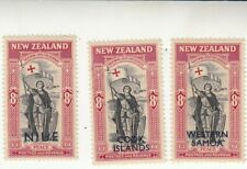 1946 Niue, Cook Islands & Western Samoa Peace MLH 8d