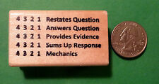 Restates Question 4321  - Teacher's Wood Mounted Rubber Stamp