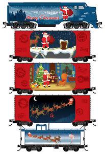 Micro-Trains MTL N-Scale Santa's Off-The-Rail Express Train Set (Loco/4 Cars)