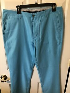 Callaway mens golf pants Flat Front 36 x 32 Light Blue