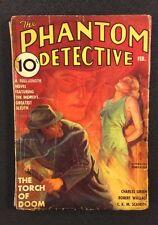 Vintage PHANTOM DETECTIVE Pulp Magazine February 1937 Original Vol XVIII, No. 1